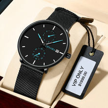 China Custom Logo Waterproof Business Black Watch Manufacturer Waterproof Branded Quartz Premium Watches For Men CRNARIA C898