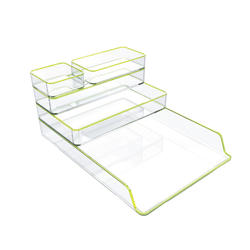 Luxury Multifunction Black Acrylic Desk Stationery Organizer