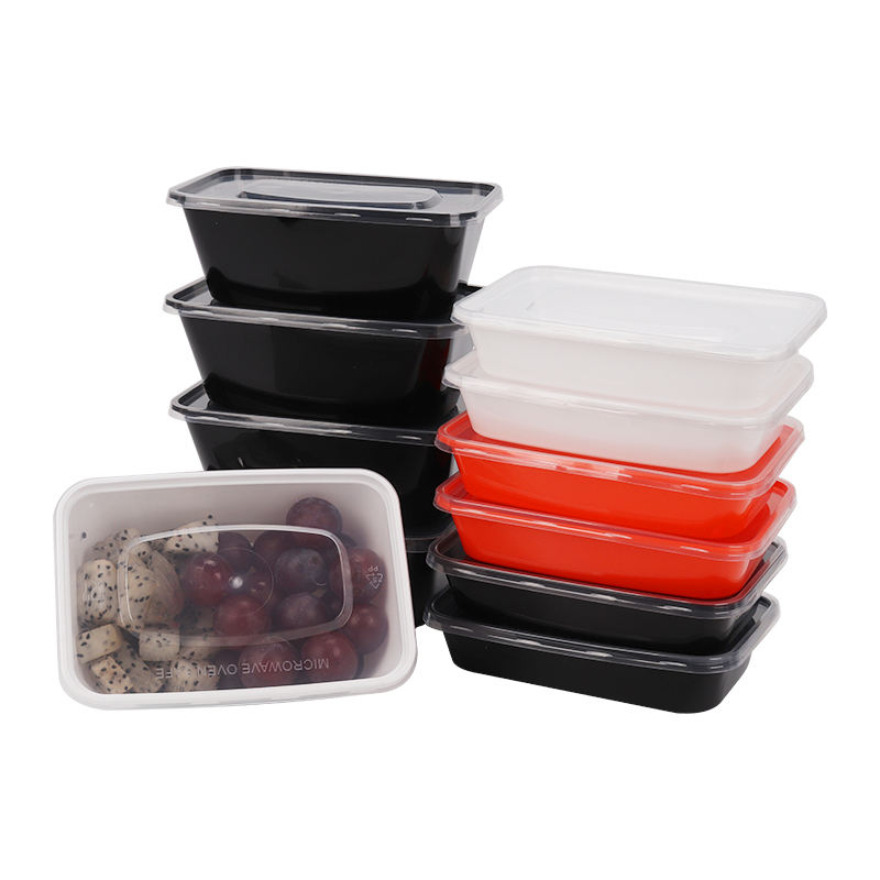 7-16oz little rectangle Plastic Meal Prep disposable takeaway food Containers