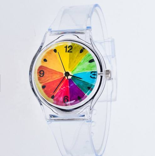 2019 New Trendy Watches Children Quartz Colorful Jelly reloj Sport Plastic promotion Student Wrist transparent strap kid Watch