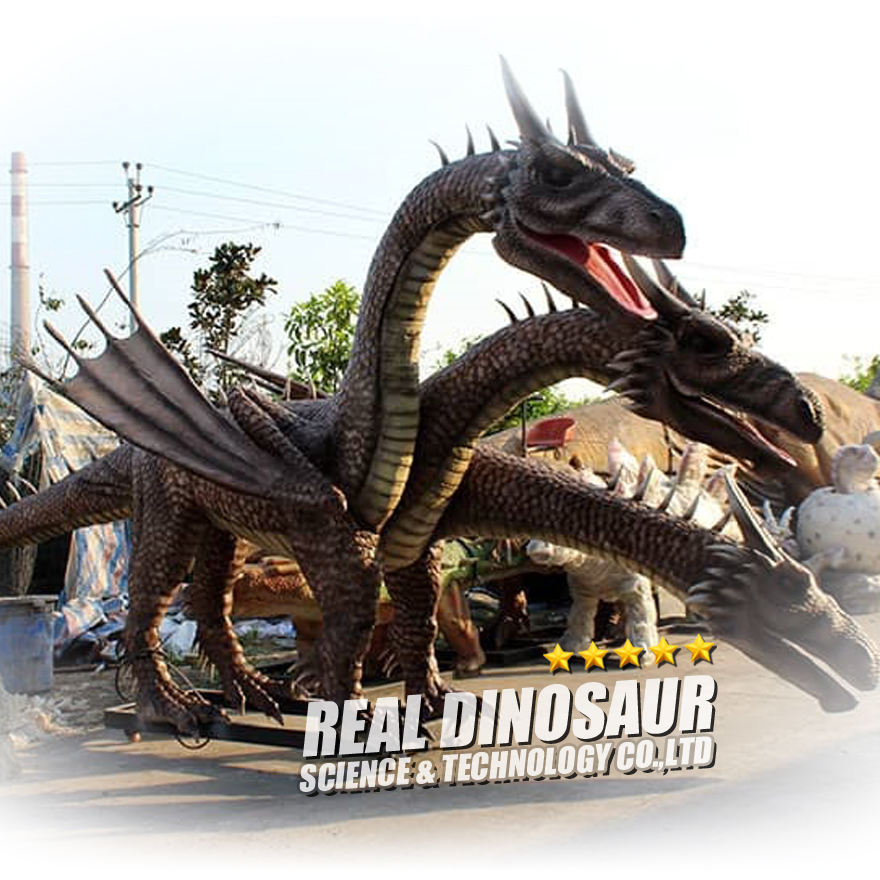 Themenpark Drachen modell Animatronic Western Dragon For Attraction