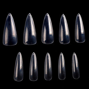 Tszs 500 Pcs Abs Kunstmatige Transparante Volledige Cover Nail Tips Wees Lange Valse Nagels Leverancier Voor Lady