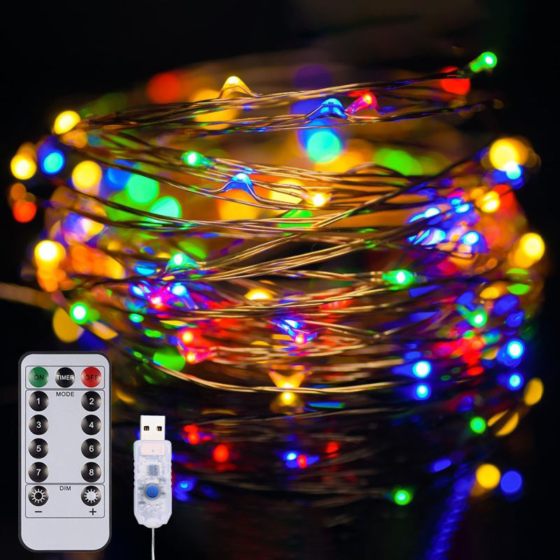 twinkly smart christmas tree lights controller 12m USB plug remote control led Christmas lights decoration string lights