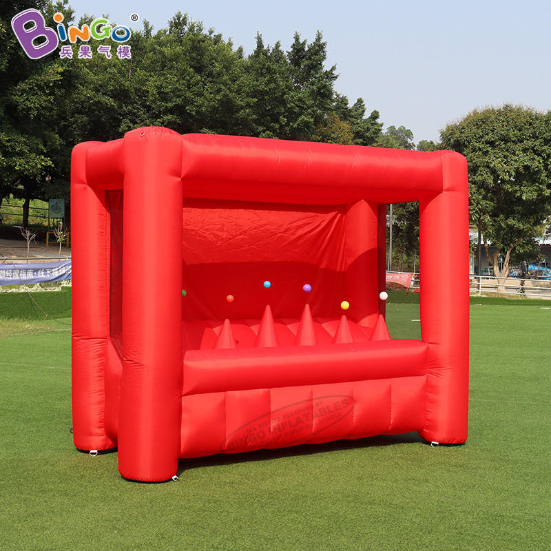 Customized 3x1.5x2.3 Meters Inflatable Archery Shooting Game For Sale Red Inflatable Shooting Sport Games