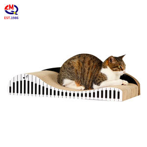 Scratcher de chat de carton ondulé jouet salon d'éraflure de chat post scratcher de chat de scratcher de jouet