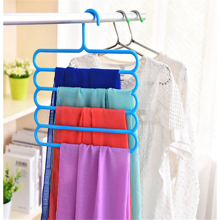 hangers rack 5 layer pant clothes Multifunctional Metal Clothes Multilayer Storage Hanger Pants Drying Rack