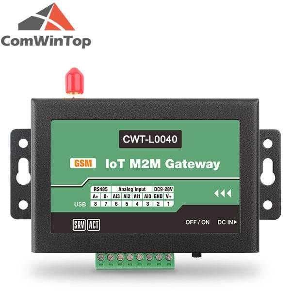 CWT-L GSM 3G 4G LTE Cellular module SMS Iot MQTT RS485 Modbus RTU Gateway With Pulse Counter