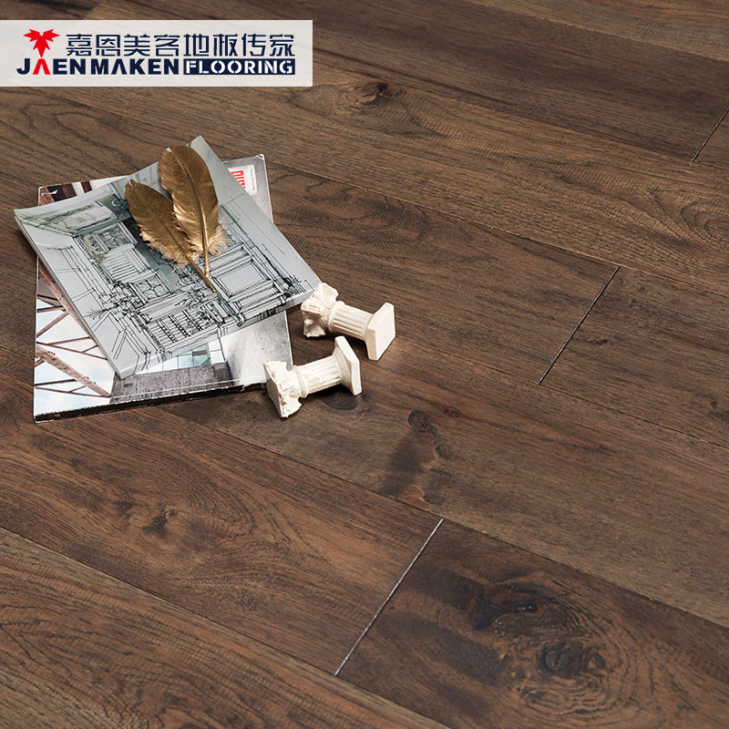 Jaenmaken China Factory Wide Planks Hardwood Solid Hickory Antique Wood Floorig Prices
