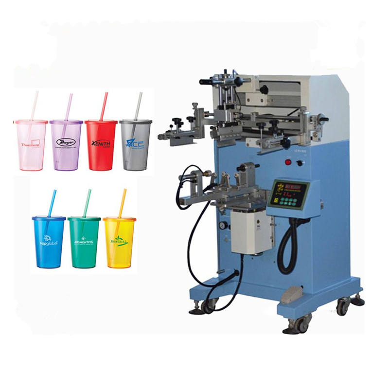 plane & cylinder cup / mug / bottle screen printer / silk screen printing machine