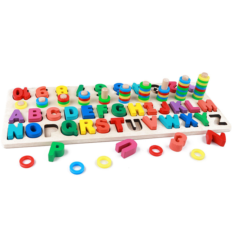 Custom multi - color montessori meter math alphabet stack math learning toys for children math alphabet toys
