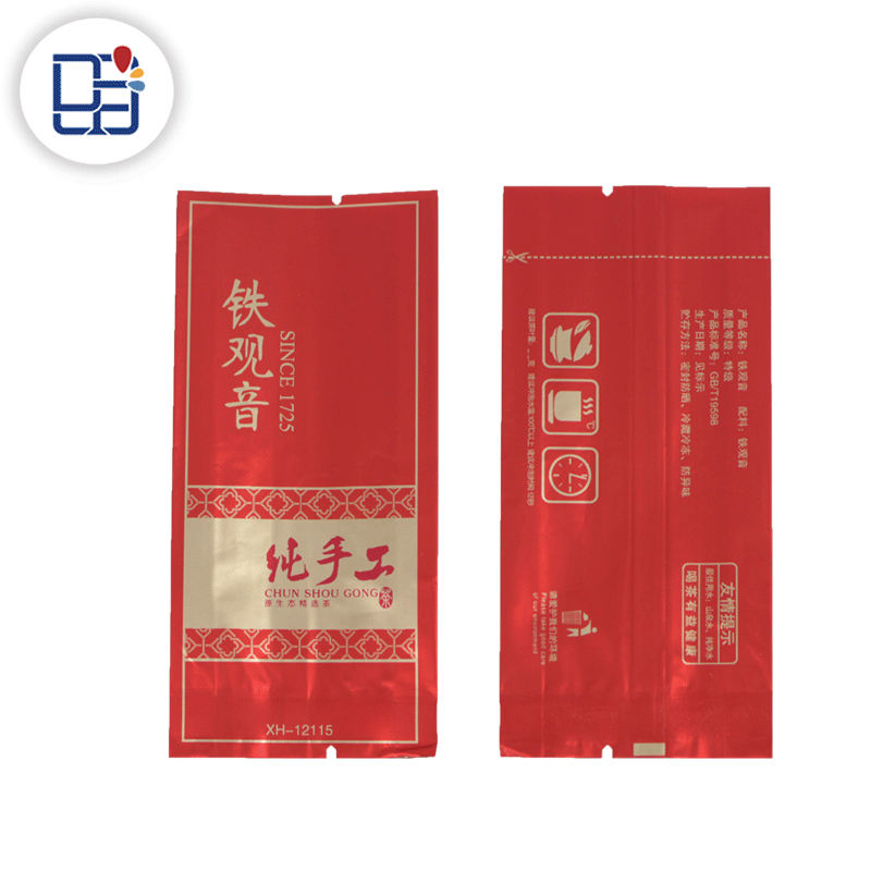 Custom Design Food Grade Verpakking Materialen Aluminiumfolie Envelop Theezakje
