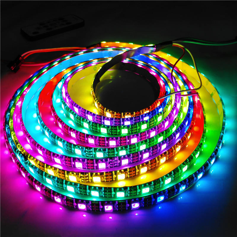 Waterproof Digital Strip ws2812B Pixel RGB Led Strip,Addressable Built-in SMD 5050 Chip Tape Light