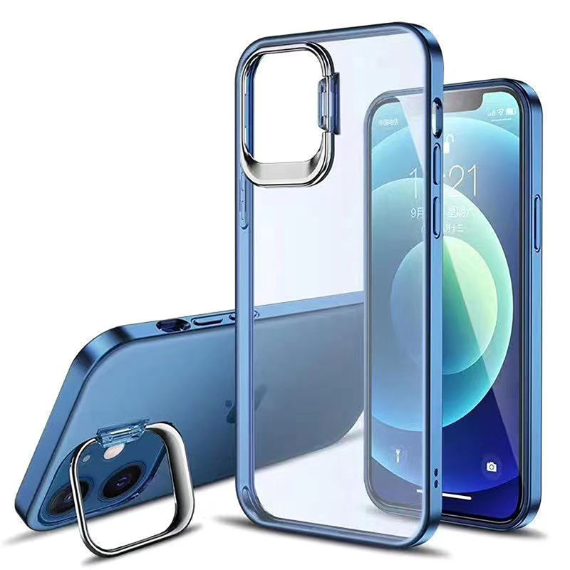 2021 Amazon Hot Sale Anti-scratch Matte Transparent PC Case with Camera Protective Holder for iPhone 12