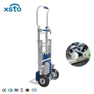 170kg Load aluminum Lithium-ion powered brake stair trolley electric dolly