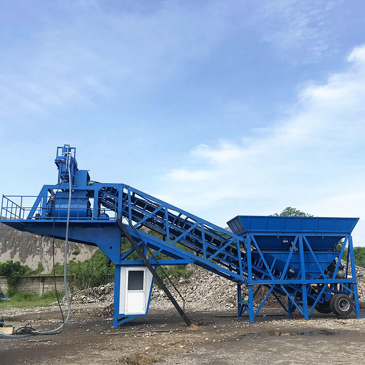 China Factory price YHZS25 twin shaft concrete batching plant mobile concrete mixer equipment