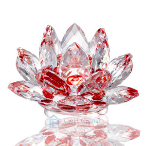 red crystal lotus flower for home decoration