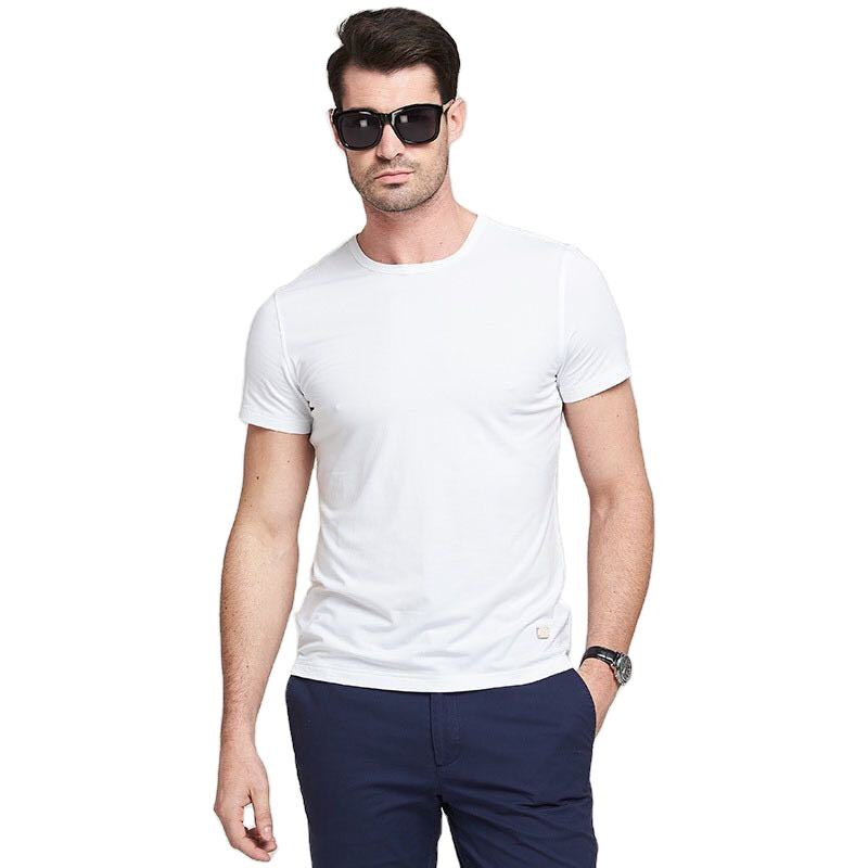 Wholesale mens oem high quality 95% bamboo fiber 5% spandex t shirts in bulk casual camisas tshirt