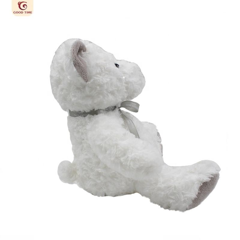 Customized Branded Soft Plush Toy White Teddy Bear Stuffed Animals Toys