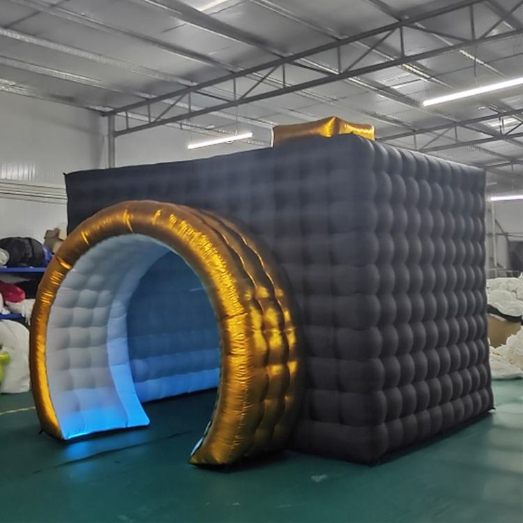 customized new design portable Inflatable led light Photo Booth for sale