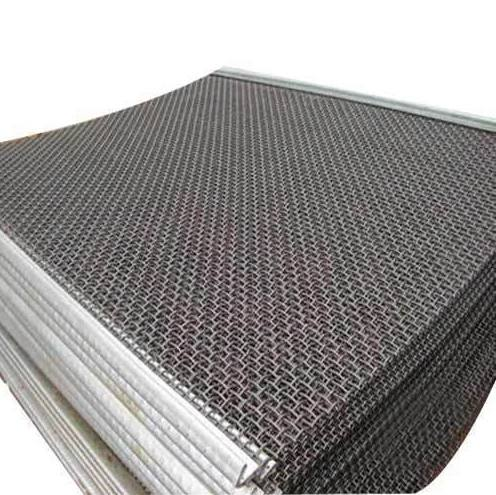 Wholesale Heavy 65Mn 6mm 8mm 12mm wire crimped wire mesh mine vibrating wire mesh screen.