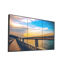 Slim bezel display 4k tv lcd video wall monitor for commercial exhibition