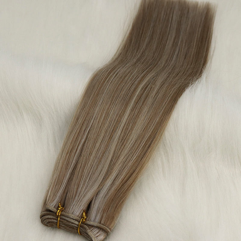 Changshunfa manufacturer 2021 new color custom thick end long length machine weft hair