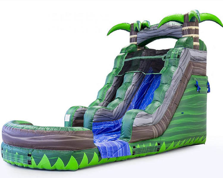 Commercial inflatable water slides with low price, tropical palm tree water slide, jungle large inflatable water slide