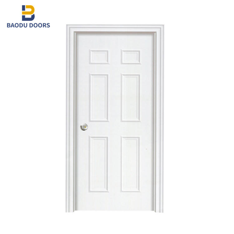 Baodu hot sale american steel door 6 panel door hollow core flush door