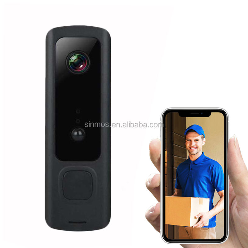 M6 Wireless Alarm Pir Night Vision Door Phone Fhd 1080P 720P Intercom Wifi Smart Video Doorbell Camera