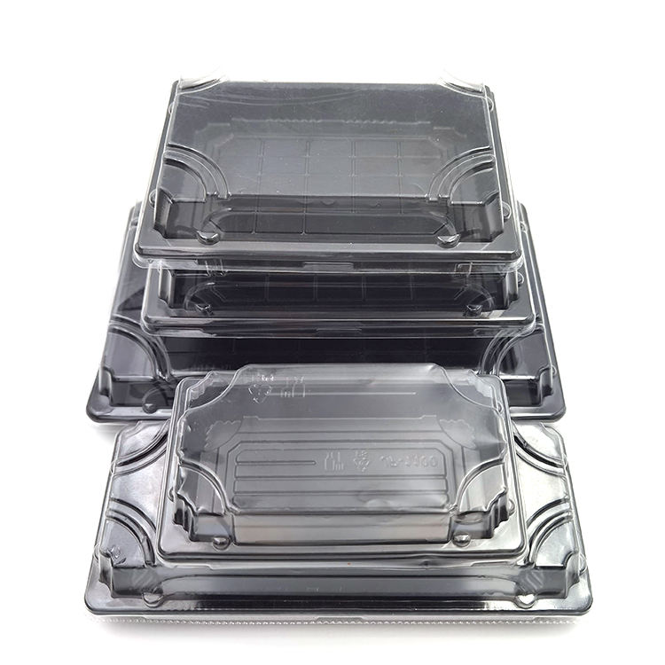 custom elegent disposable plastic take out sushi box