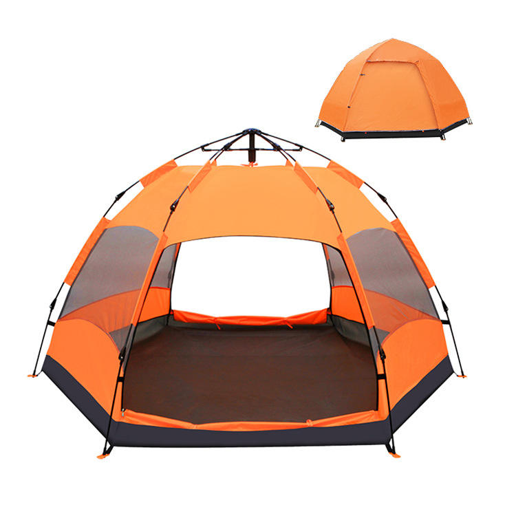Automatic thickening rainproof outdoor camping supplies wholesale OEM proved tent for 5-8 person