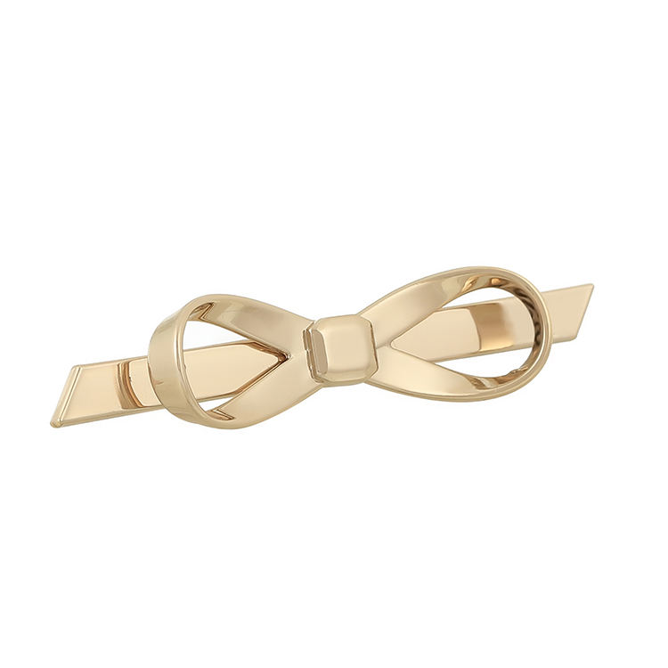 Fashion Cute Factory Direct Sale Alloy Bowknot Metal Labels Tags For Handbags Bags Purse Accessories