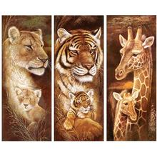 5D DIY diamond painting home decoration cross stitch embroidery art mural new product animal wholesale art painting