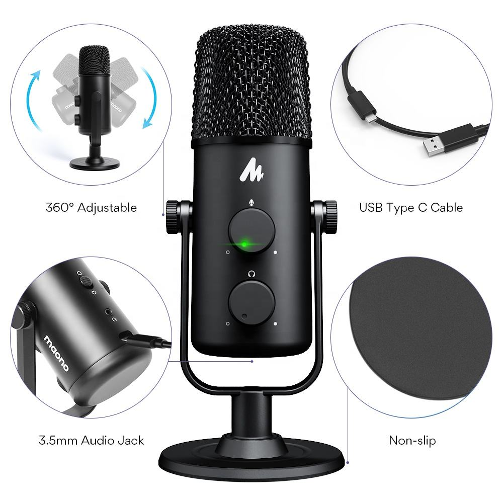 MAONO Work from Home Desktop Video Microphone Conference Microphone Professional Studio Microphone