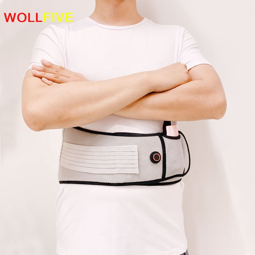 New product ideas 2019 Heating Waist Belt,Far Infrared Magnetic Adjustable Back Support Heat Belt for Back Pain Relief
