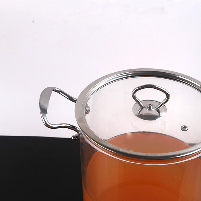 Glass Pot Anti-scald Big Capacity Multi-purpose Transparent Glass Cooking Pot