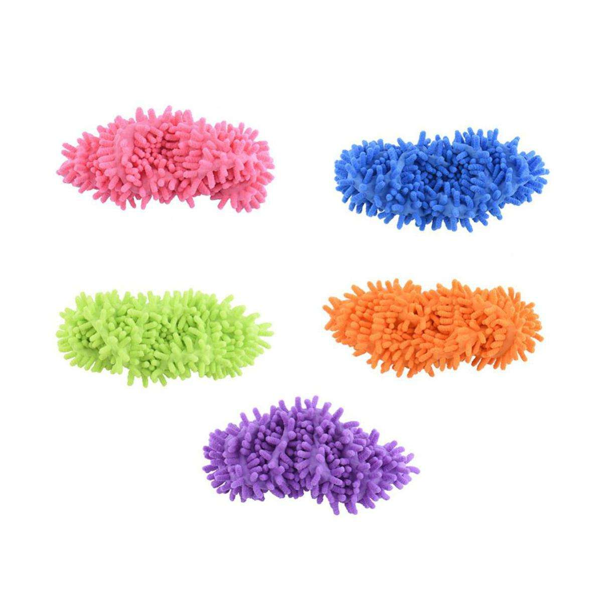 1 stks Top Fashion Speciale Aanbieding Polyester Effen Dust Cleaner House Bathroom Floor Schoenen Cover Cleaning Mop Slipper