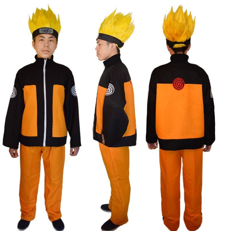 Uzumaki Naruto Cosplay Costume Uniform Suit