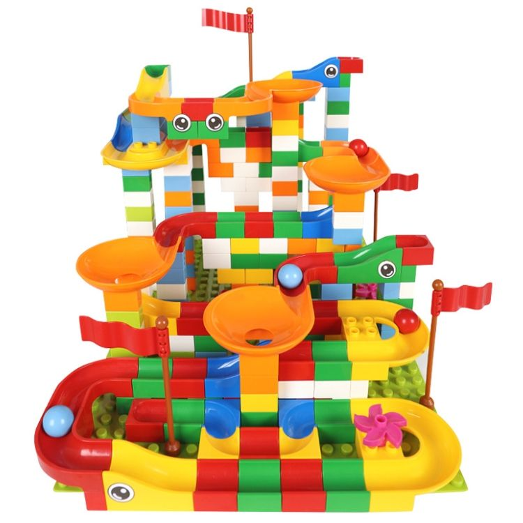 Blocs de construction Compatible LegoINGlys, jeu de course de billes à monter soi-même, briques de construction coulissantes et entonnoirs, jouets pour les enfants, pièces