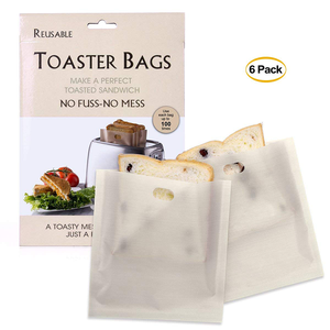 Non Stick Heat Resistant Reusable Toaster Bags for grilled cheese sandwiches