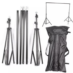 Photographic Equipment 2x3m Photography Photo Wedding Backdrop Stand With Telescopic Crossbar background stand