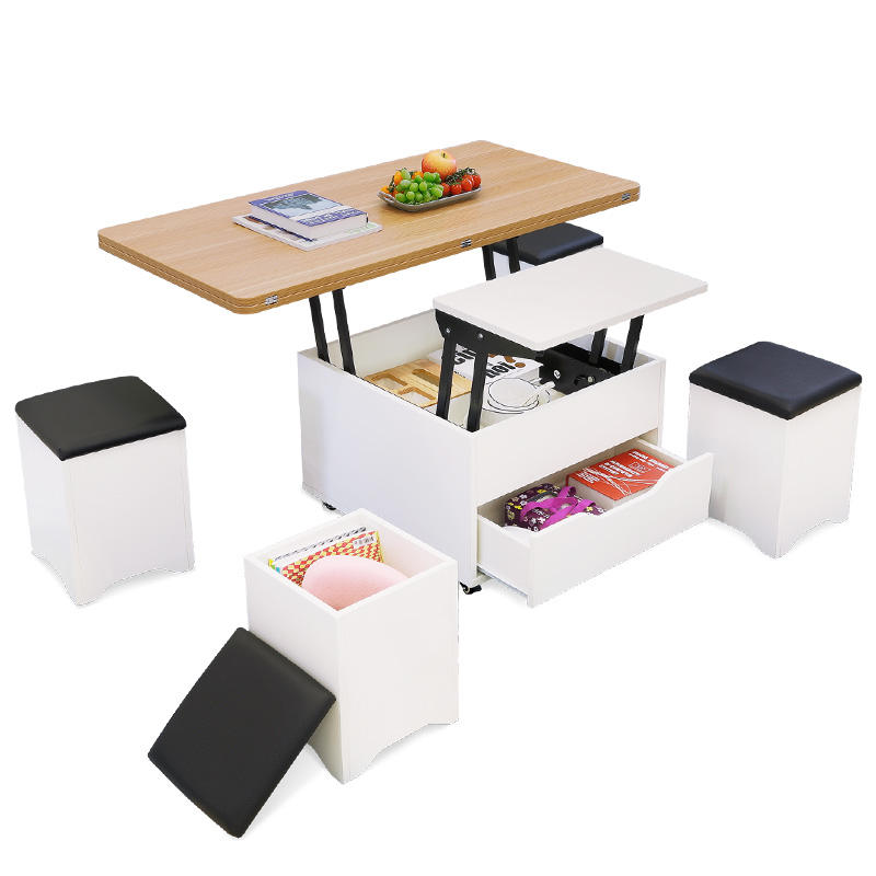 Multifunctional wooden folding luxury coffee table for household