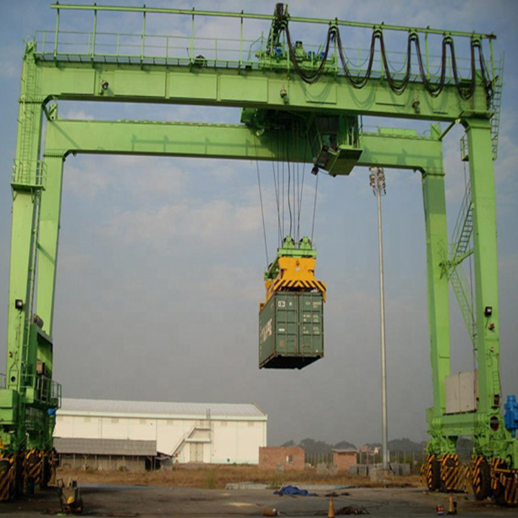 40 Ton Rubber Band Portaalkraan China Schip Yard Container Rtg Crane Fabriek
