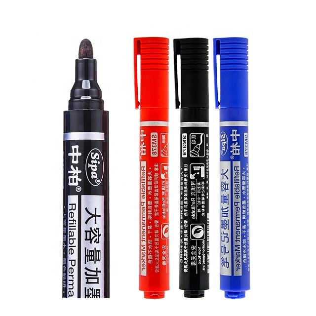 SIPA SM378 Refillable Waterproof Fade-Proof Fast Drying Permanent Marker