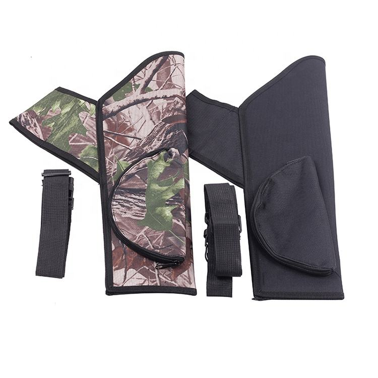 Waterproof Compound Recurve Bow and Arrow Waist Hanging Holder Archery Black Camo Arrow Quiver Bag