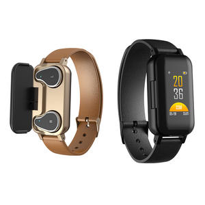 New arrival 2 in 1 smart watch with bluetooth earphone T89 smart watch fitness headset earphone