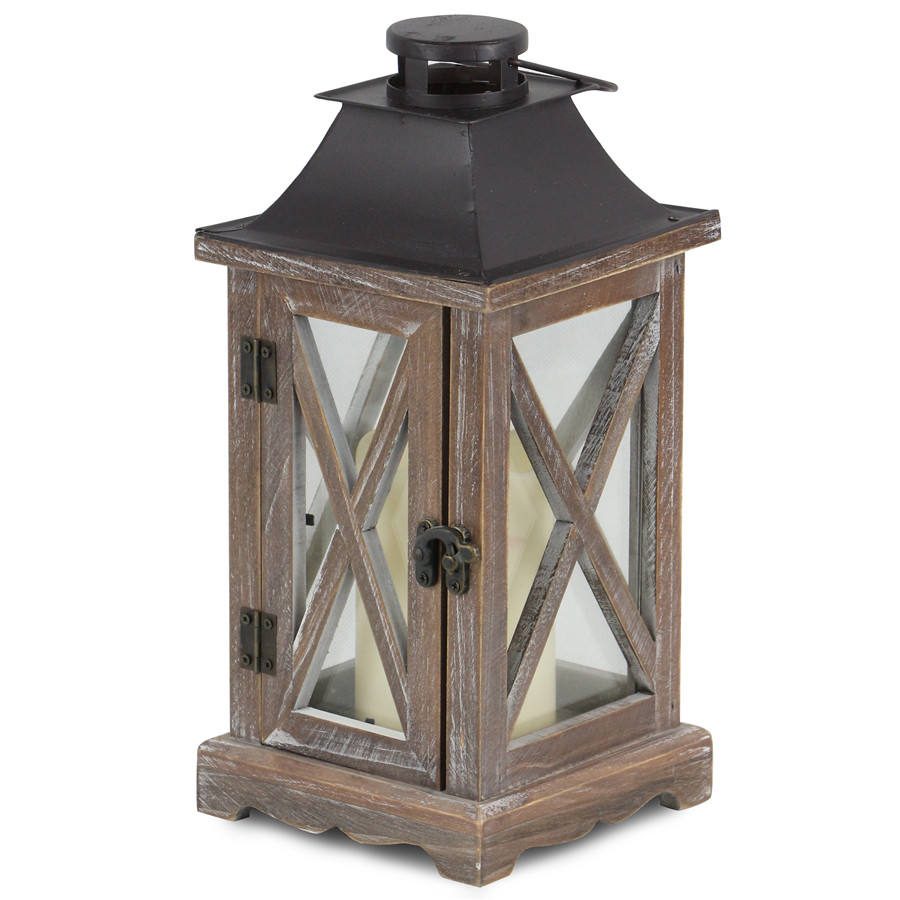 Home lighting decorative antique wooden hanging lantern for candle