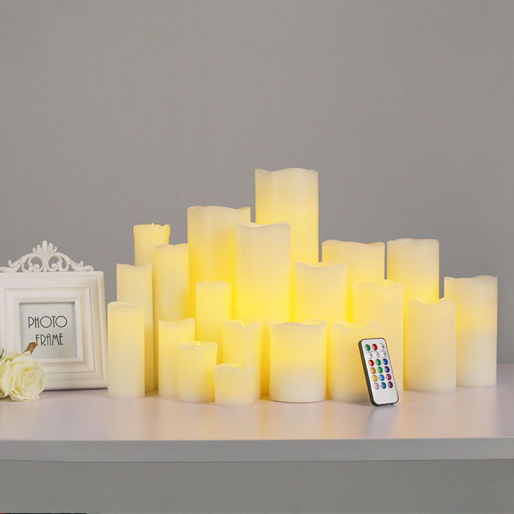 Home Decoration Flameless Moving Wick Led Candle