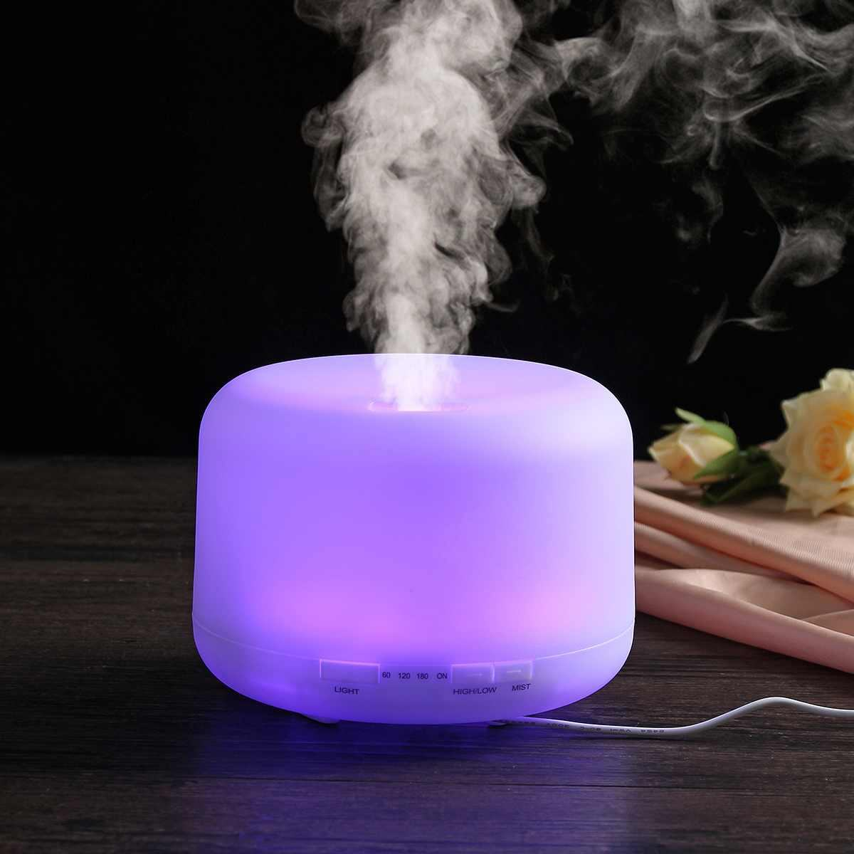 Remote Control Usb Aroma Oil Diffuser Difuser Ultrasonic 500 Large Capacity Essential 500Ml Mlk-818 Household Waterless