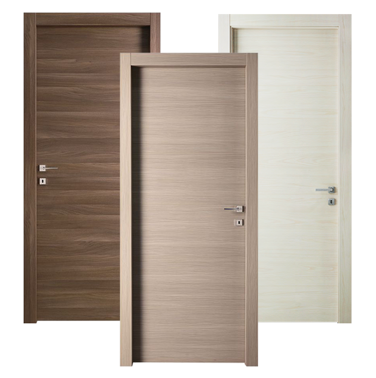Walnut Wooden latest simple design MDF melamine wood veneer room doors Interior door